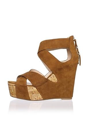 Dolce Vita Women's Jaime Wedge Sandal (Tan Suede)