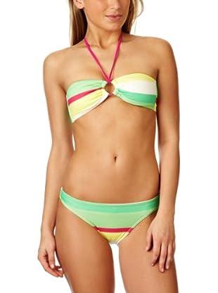 Roxy Bikini Laguna (Verde / Rojo / Amarillo)