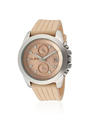 a_line Women's 80010-016-BE Aroha Beige Silicone Watch
