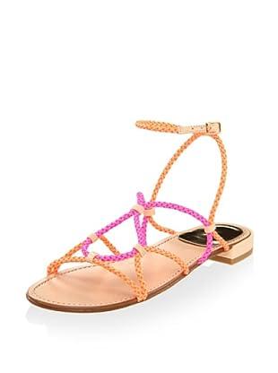 Stuart Weitzman Women's Cordy Sandal (Sherbert Laniard)