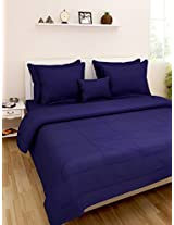 Omoroze Cotton Single Comforter - Pink and Navy Blue