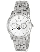 August Steiner Men's AS8050SS Swiss Quartz Multi-Function Diamond Watch