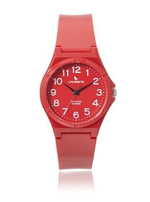 Laurens VQ88J903Y Red Rubber Water Resistant Watch