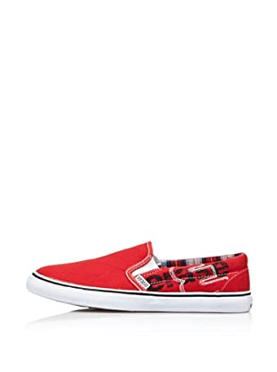 Erase Zapatillas Deportivas con Cordones de Lona (Rojo)