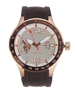 U.S. POLO ASSN. Uhr mit japanischem Quarzuhrwerk Reego braun 45 mm