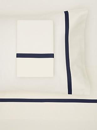 Errebicasa Como 300 TC Sheet Set (Panna/Navy)