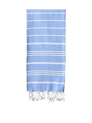 Nine Space Stripe Turkish Fouta Hand Towel, Blue