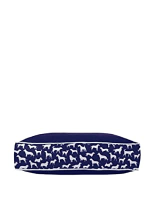 Harry Barker Kennel Club Rectangular Bed, Blue, Small