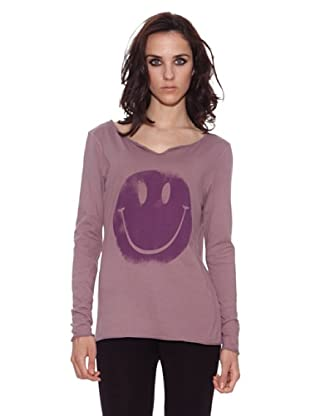 The Hip Tee Camiseta Smiley (Lila Oscuro)