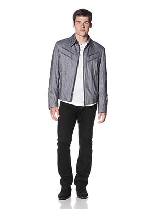 ZILLI Men's Elno Denim Jacket (Blue Jeans)
