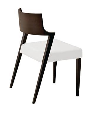 Domitalia Lirica Chair, White/Wenge
