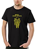 Socratees Men's Black Cotton Need Some Space Funny Quote T-shirt
