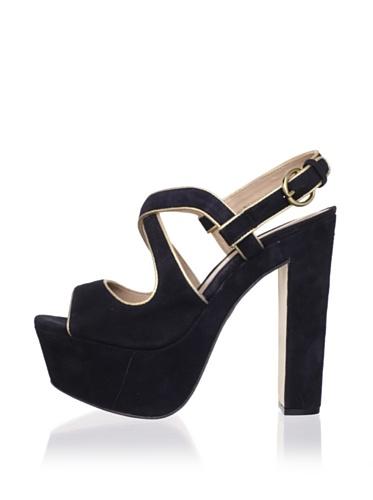 Pour La Victoire Women's Gitta Platform Sandal (Black)