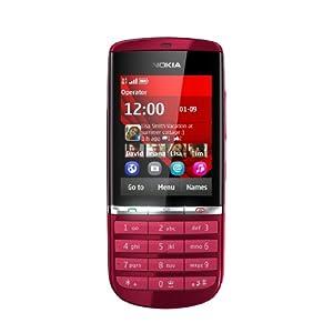 Nokia Asha 300 Mobile Phone-Red