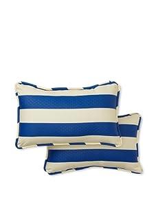 Waverly Set of 2 Sun-n-Shade Solstice Rectangle Decorative Throw Pillows (Marine)