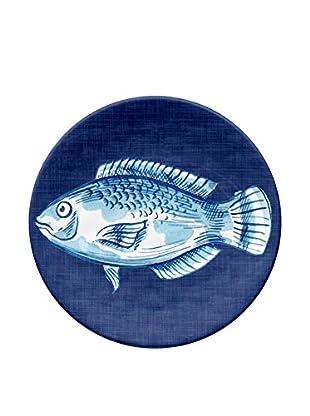 Oceanside Fish Melamine Appetizer Plate, Multi