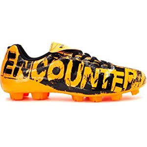 Nivia Encounter Football Stud - Orange Black- 6 UK
