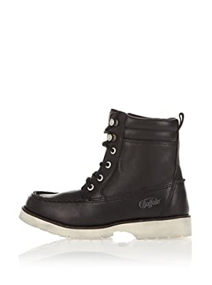 Buffalo London Botines Pull Up Leather (Negro)