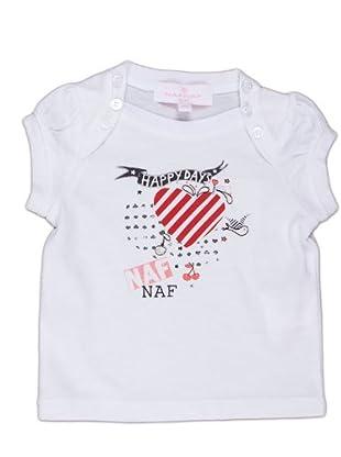 Naf Naf Chevignon Camiseta Corazón (blanco)