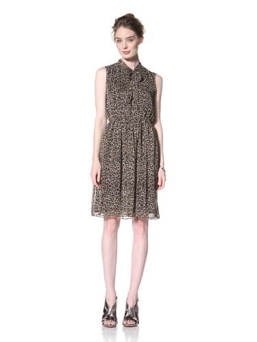 Taylor Dress Women's Animal Printed Chiffon Dress (Walnut)