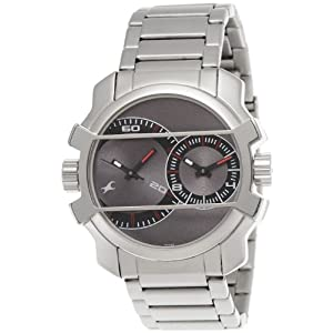 Fastrack Midnight Party Dual Time Analog Grey Dial Men's Watch - 3098SM01