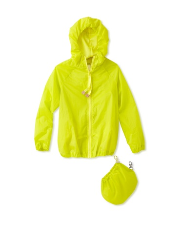 kicokids Girl's Rain Slicker Mac-In-A-Pac (Citrus)
