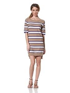 Whit Women's Striped Dress (Brown/Cobalt)