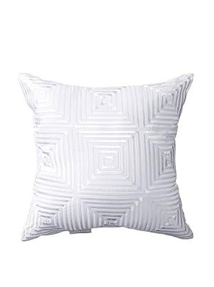 Kas Paloma Embroidered Pillow, White
