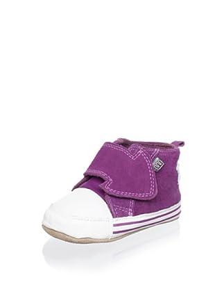 Melton Kid's Hook-and-Loop Star Shoe (Purple)