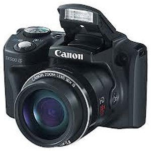 Canon PowerShot SX500 IS 16 MP Point and Shoot Camera (Black) with 30x Optical Zoom, SD Card and Camera Case