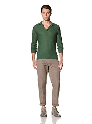 Camo Men's Miagliano Knit Polo (Green)