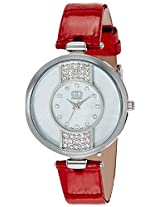 Gio Collection Analog Silver Dial Women's Watch - G0059-03