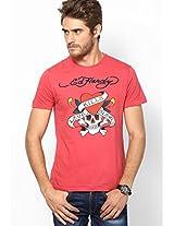 Pink Round Neck T-Shirts
