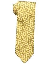 Haggar Men's Floral Tie, Yellow, One Size