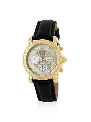 JBW Women's JB-6210L-A Victory Diamond & Black Leather Watch