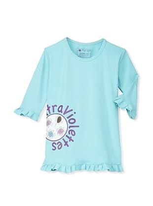 Les UltraViolettes Girl's Confetti Swim Tee (Turquoise)