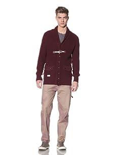 Marshall Artist Men's Shawl Collar Cardigan (Burgundy)