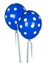 Tiger 50179 Polka Dot Printed Balloons Blue Color (Pack of 10)