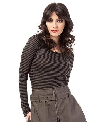 Ikks Camiseta (negro / gris)