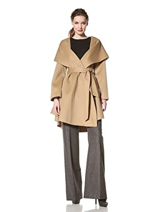 Dawn Levy Women's Piper Wool Belted Coat (Camel)