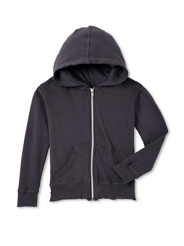 NUNUNU Kid's Ribbed Zip Hoodie (Dark Grey)