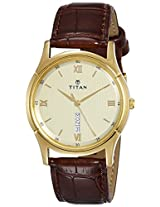 Titan Cream Dial Men's Analog Watch - 1636YL03