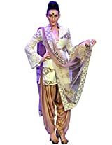 BFW Labels Indo-western Suit by Kaneeka Aggarwal ( White and Brown )