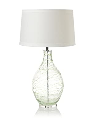 Lighting Accents Hand Blown Glass Table Lamp with Coils (Green)