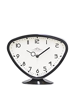 Three Hands Fashionable Living Metal Table Clock, Black
