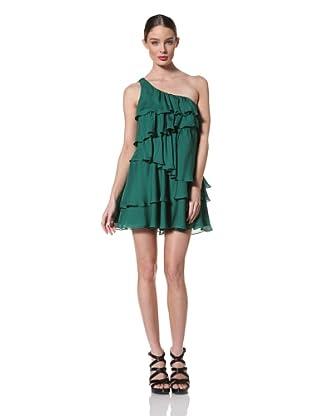 Jay Godfrey Women's Winslow One Shoulder Tiered Dress