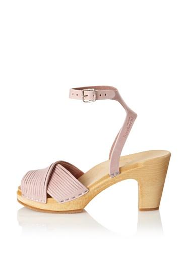 Swedish Hasbeens Women's Strappy Sandal (Vintage Pink Nubuck)