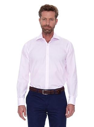 Cortefiel Camisa Raya Fina Gemelos (Rosa)