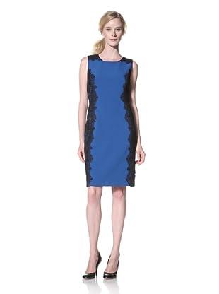Chetta B Women's Sheath Dress with Lace (Cobalt)