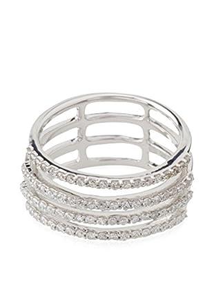 PARIS VENDÔME Ring Mes 4 Rangs Précieux Diamants